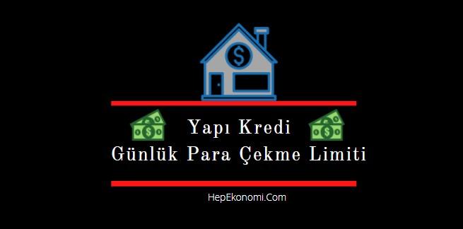 Yapı kredi bankası atm para çekme limiti