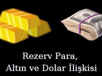 rezerv para altın ve dolar ilişkisi