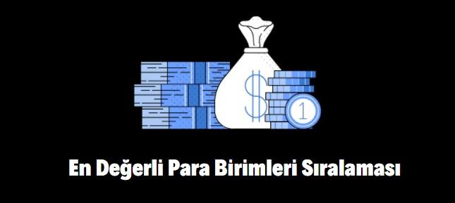 en değerli para birimi hangisi, Türk Lirası kaçıncı sırada